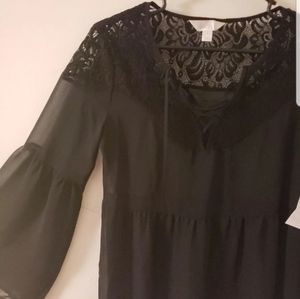 NWT lace see through top